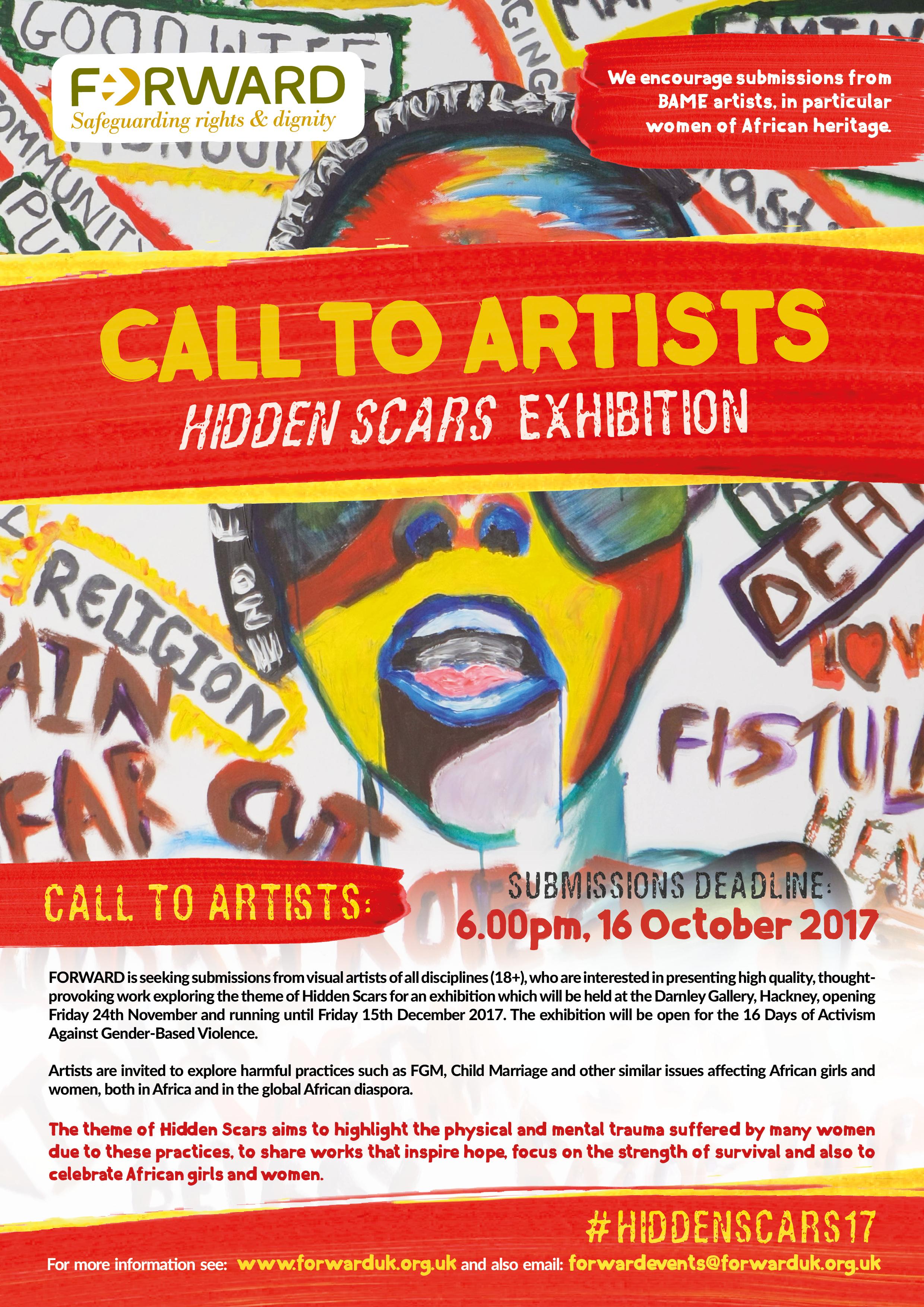 Call to Artists Hidden Scars