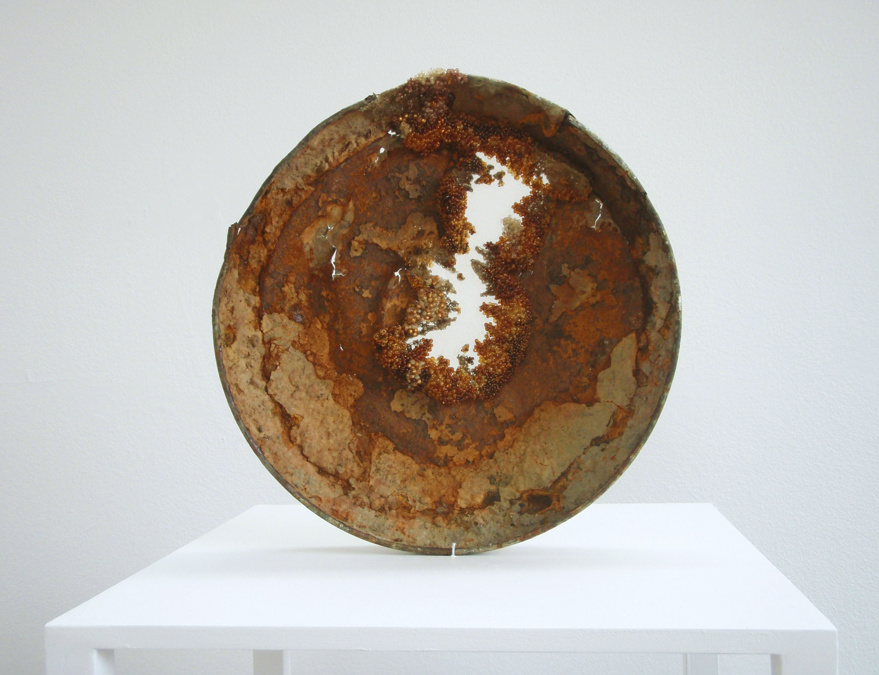 Lizzie Cannon: 'Corrosion (study with beads) 1'