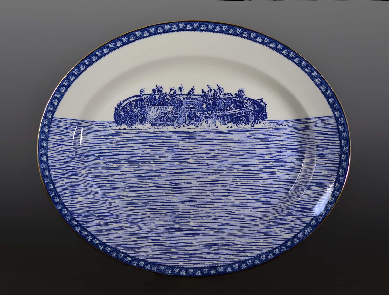 Paul Scott, Refugee Series (image of transferware ceramic piece)