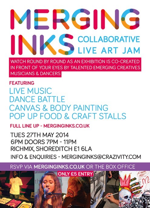 Merging Inks edition 4, 27th May 2014 Richmix London