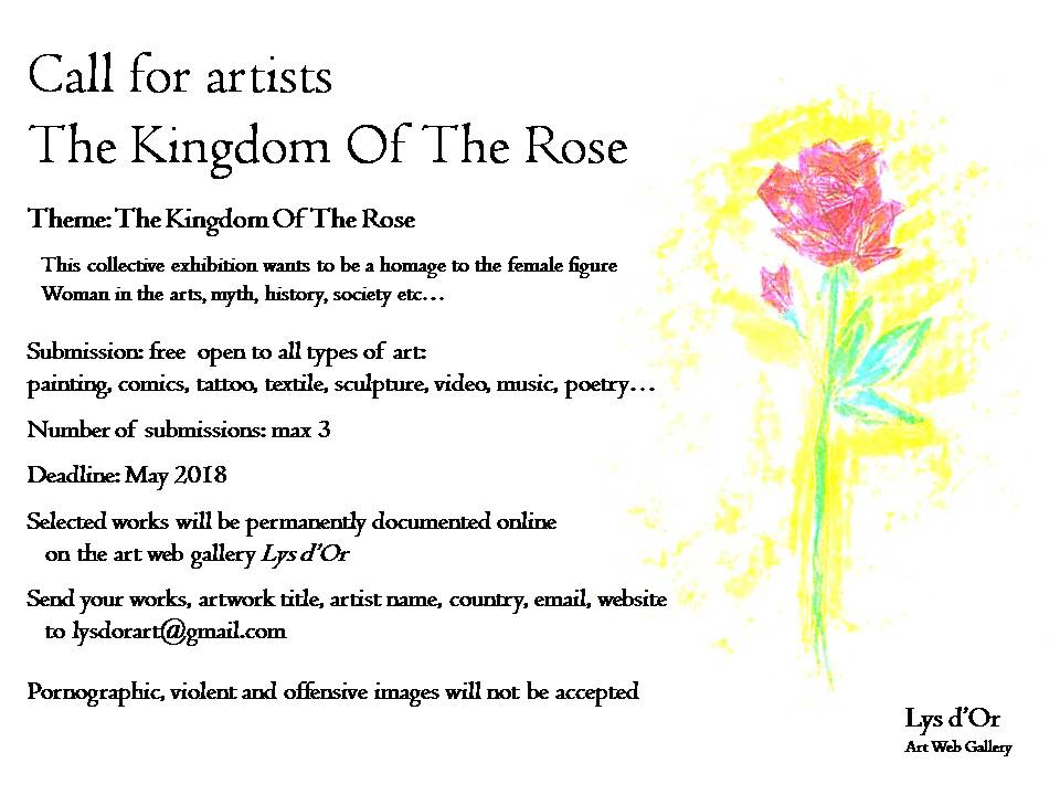 """Call for artists """"The Kingdom Of The Rose"""""""
