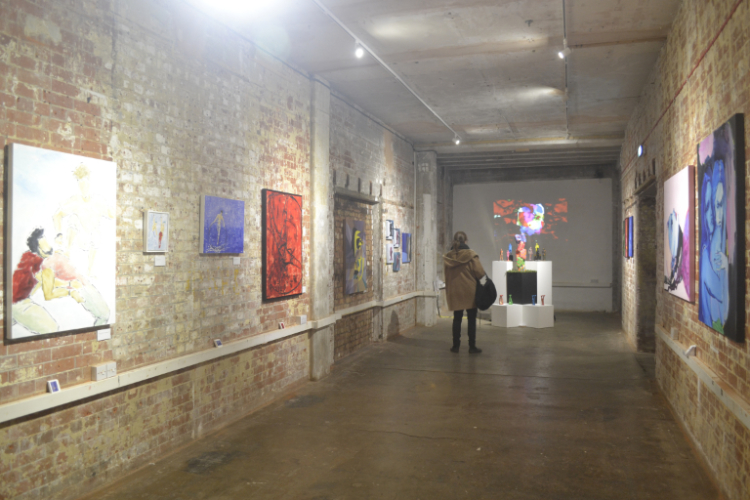 2019 Art Maze Exhibition at Bargehouse, Oxo Tower Wharf