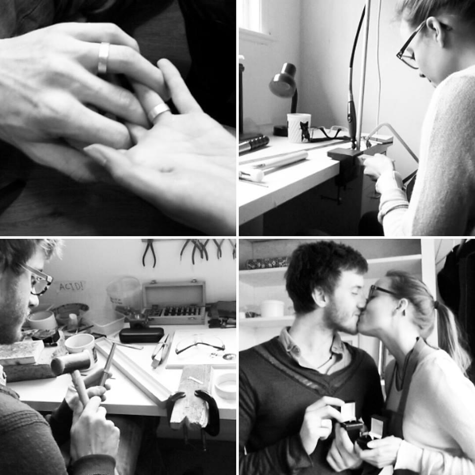 Make your own wedding rings Londons Artist Quarter
