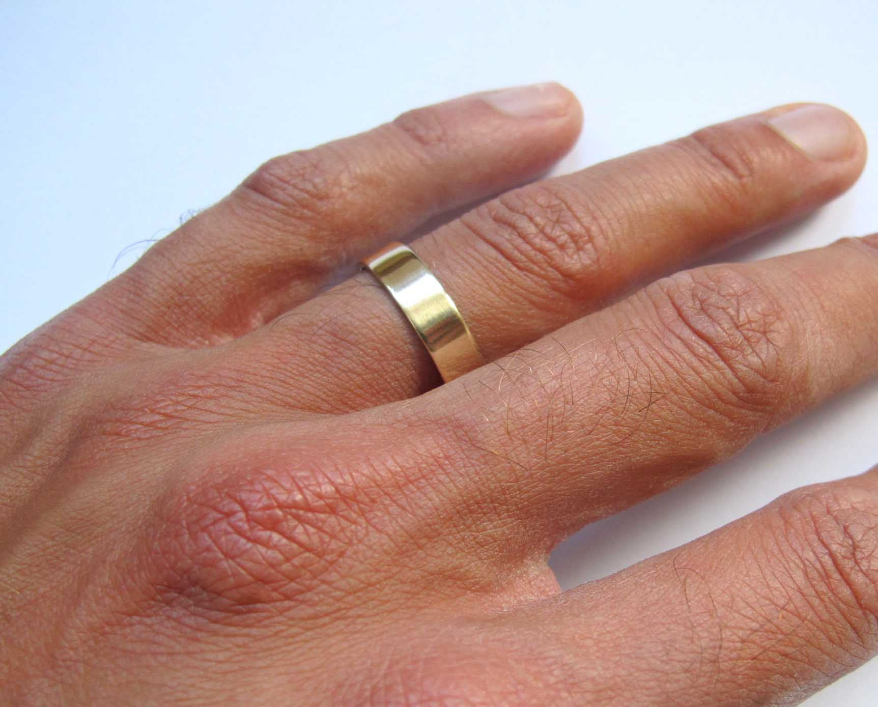 Men S Thick Gold Band Wedding Ring