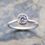 Handmade gold engagement ring