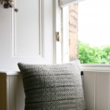 Nordic Lumber Handwoven Cushion_Fiona Daly Textiles_mid Grey