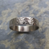 wedding band ring in 18ct white gold