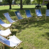 Tottenham Clouds deckchairs, an art project from Natasha Vicars for Canaology
