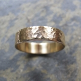 hand made hammed gold wedding ring