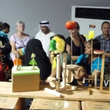 Queuing for the Automata Workshop at the Abu Dhabi Science Festival 2013