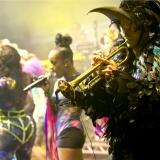 Basement Jaxx Birdman costume world tour 2013