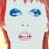 Bowie, David Bowie, illustration, portrait, ryan hodge illustration, ryanhodge