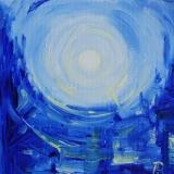 Spanish Moon Oil on Canvas Annette Ross