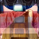 Durbin Lewis Ltd #PYE #Sanyo #TV #damask #curtain #rubber #walnut