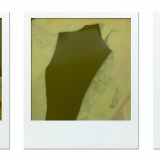 Manipulated Polaroid triptych