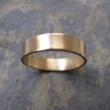 Men's thick gold band ring - Men's thick wedding band ring in 9ct yellow gold London Crouch End