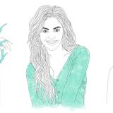 Linear illustrations, illustrations, drawings