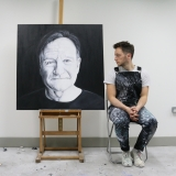 Painting of Robin Williams