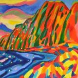"""Polihale State Park, Kauai, HI, US"", Oil on Canvas, 72/100 cm., 2017"