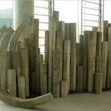 Concrete and metal sculpture