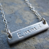 sterling silver name necklace Personalised Jewellery