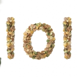Dots by nature, leaves, typography, sustainability