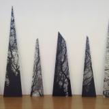 Shards - digital art prints on aluminium by Caroline Underwood
