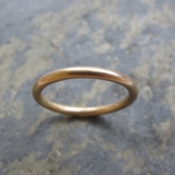 Women's handmade gold wedding band rings London