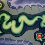 Green Dragon, acrylic on canvas 100x30cm