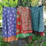 recycled sari wrap skirts