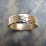 Handmade men's gold wedding rings London