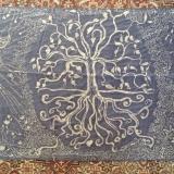 Annette Ross Batik Tree of Life on Silk
