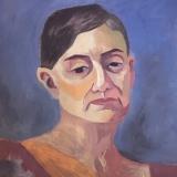 Oil portrait of model