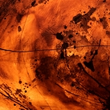 Varnish and Bitumen on canvas