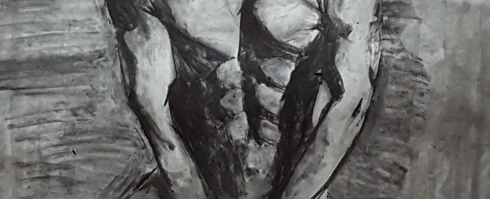 Jamie Zubairi, charcoal drawing
