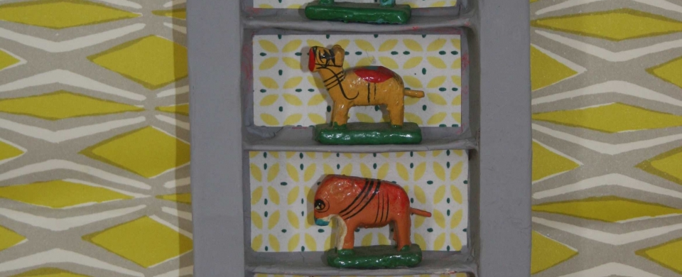Indian wooden animals
