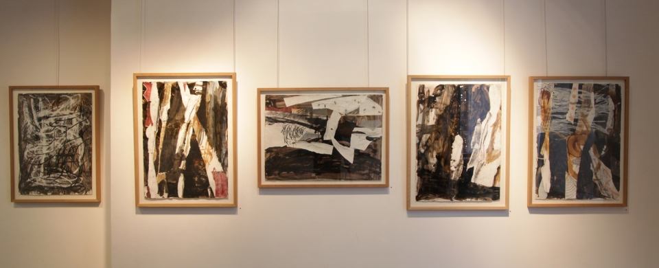 Anthony White,LepaveD'Orsay,Australian,London,Paris,Contemporary,Abstraction,Landscape,Gestural,Collages,Work on Paper,