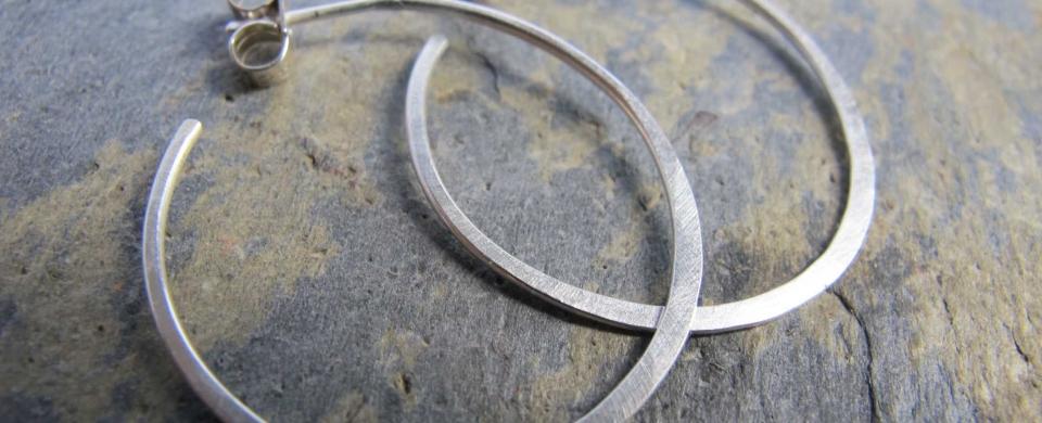 Handmade Sterling Silver Hoop Earrings