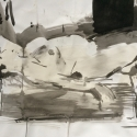 Tarique MI , Reclining Figure 2010, ink on A1 paper